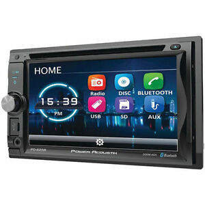 """Power Acoustik PD625B 6.2"""" Double Din Receiver With Bluetooth DVD Car Stereo"""