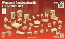 24th Scale Furniture Set 34 Piece, Dolls House Miniature 1/24 Scale