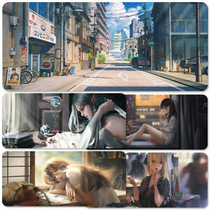 80x30cm Anime Mouse Pad Gaming Genshin PC Computer Mice Large Soft Pad
