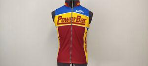 Biemme Power Bar Mens Cycling Full Zip Sleeveless Jersey Shirt Size 4 or L