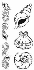 Unmounted Rubber Stamps Seashells