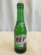 1941 HEP Dry Ginger Ale SODA BOTTLE 7 OZ Unopened !