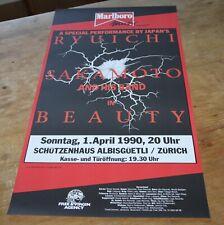RYUICHI SAKAMOTO & BAND beauty ORIGINAL SWISS CONCERT POSTER 1990 Zurich