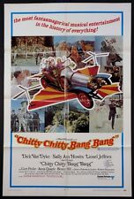 CHITTY CHITY BANG BANG DICK VAN DYKE VINTAGE FLYING CAR 1969 BEST STYLE 1-SHEET