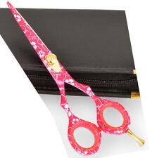 "Pinkflower Hairdressing Scissors  Hair Cutting Shears 5.5"""