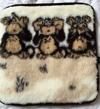 "Pillows "" Little Monkey "",Cushion,100% Wool 15 11/16x15 11/16In,Made in Germany"