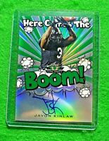 JAVON KINLAW PRIZM HERE COMES THE BOOM AUTO CARD SP #/75 49ERS 2020 LEAF VALIANT