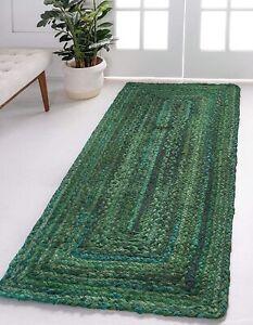 Rug 100% Natural Hand Braided Cotton Bohemian living area Modern Decor rag Rugs