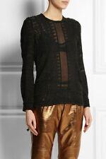 Isabel Marant black top size 42, AUS 8-10, pre loved