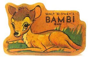 1942 BAMBI figural yellow Bakelite decal PENCIL SHARPENER *