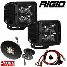 RIGID Fog Light Kit w/ Midnight Black LED Lights for 07-10 GMC SIERRA 2500 3500