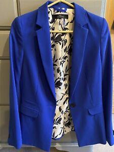 Stunning BNWT Next Cobalt Blue Trouser Suit Jacket Size 10, Trousers Size 8R