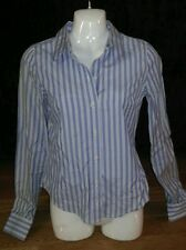 Abercrombie & Fitch Preppy Long Sleeve Button Down Striped Blouse Top Sz S