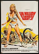 """ONE MILLION YEARS BC 1966 French 1st release 23""""x32"""" Raquel Welch Filmartgallery"""