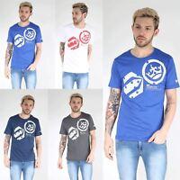 Cross Hatch Mens Short Sleeve Crew Neck Arowana Printed 100% Cotton Tee T Shirt