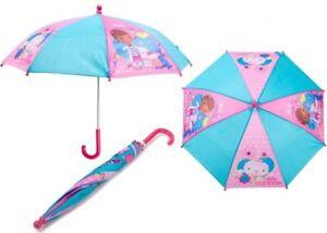 GIRLS DOC MCSTUFFINS DOTTIE WET RAIN UMBRELLA KIDS SCHOOL BROLLY DOME PANEL GIFT