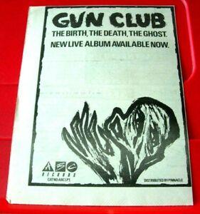 "Gun Club The Birth The Death The Ghost Vintage ORIG 1984 Press/Mag ADVERT 8""x 6"""