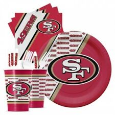 San Francisco 49ers NFL Party Pack 20 Cups Plates Forks Napkins GameDay Tailgate