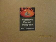 Afl Portland Forest Dragons Circa 1997 Pocket Schedule