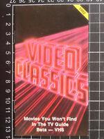 Australian VIDEO CLASSICS CATALOGUE rare VHS era 1980s brochure pre-cert horror