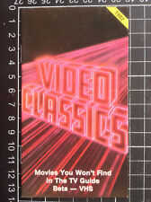 Australian VIDEO CLASSICS CATALOGUE rare VHS era 1980s brochure pre-cert horror