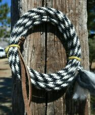 "Jose Ortiz Deluxe 6 Strand x 1/4"" Mohair Get Down Rope 16' - Black & White"