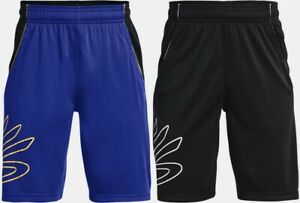 """Under Armour Boy's Curry SC Hoops Shorts 8"""" Casual Workout Fitness Shorts"""