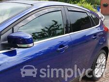 Tinted Front Rear Window Heko Wind Deflectors 4pc Ford Focus (2011 on) [5 Door]