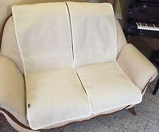 Housse de fauteuil Lot 2 pièces, Canapé économiseur en optique la vague blanc,