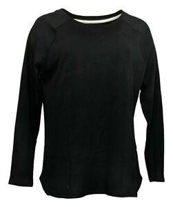 Isaac Mizrahi Live! Women's Top Sz M Pima Cotton Black A371894