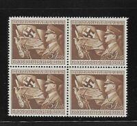 MNH 1944 stamp block / Anniversary of Takeover Third Reich / Hitler WWII Emblem