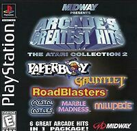 Playstation PS1 Complete Game ~ MIDWAY ARCADE'S GREATEST HITS 2  Crystal Castles