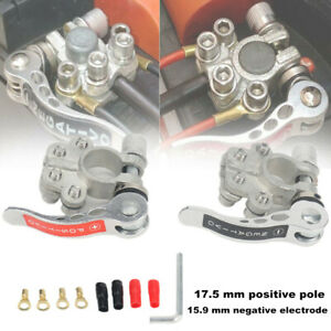 Copper Car Battery Terminal Clip Disconnect Switch Link Kit Heavy Duty Universal