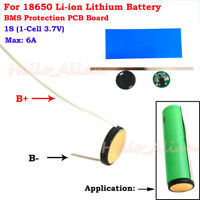 1S 6A 3.7V 18650 Li-ion Lithium Lipo Battery Cell BMS Round PCB Protection Board