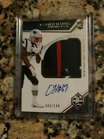 2019 Panini Limited Damien Harris RPA - Sweet 3 Color Patch - Patriots