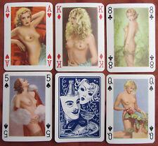 1955 PIATNIK NUDE PIN UP PLAYING CARDS BEATIFUL GIRLS COLOURED ARTISTIC PHOTOS