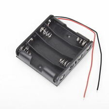 Battery Box Slot Holder Case for 4 Packs Standard AA 2A Batteries