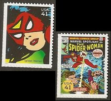 US 4159g 4159q Marvel Comics Super Heroes Spider-Woman 41c 2 stamps MNH 2007