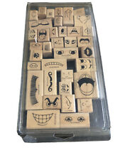 Stampin Up Making Faces Set of Rubber Stamps Facial Features Eyes Nose lot of 36