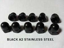 M3 Negro Acero Inoxidable cúpula NUTS Pack De 10 A2 Acero Inoxidable