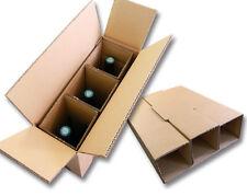 Lot de 5 Cartons spéciaux pour expédier 3 bouteilles
