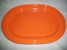 Orange Halloween Kitchen Plastic Oval Serving Platter Tray Pool Picnic Hot Dog