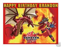 Bakugan Battle Brawlers Edible Birthday Cake Image Topper Frosting Icing