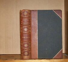 Life on the Mississippi. Twain. 1883. 1st ed. mixed state. 1/2 morocco.