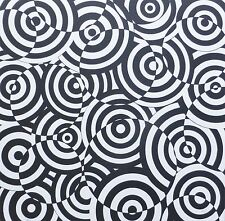 """ANTONIO ASIS """"CERCLE"""" Lithograph HAND SIGNED ARGENTINIAN/french Artist Op Art"""