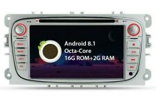"""RADIO DVD GPS LCD TÁCTIL 7"""" GRIS FORD FOCUS MONDEO...ANDROID 8.1 OCTA CORE. 24H"""