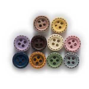100pcs Round Wood Buttons for Sewing Scrapbooking Clothing Crafts Handmade 10mm