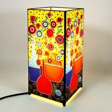 Lampada artistica da tavolo in vetro e metallo arredo casa, modello floreale