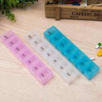 7Day Pill Box Medicine Tablet Dispenser Organiser Weekly Holder Health I1F1