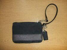 """Donna Borsa Borsetta COACH Black Canvas & leather, Taglia 6x4"""" + Cinghia, usato 3004"""